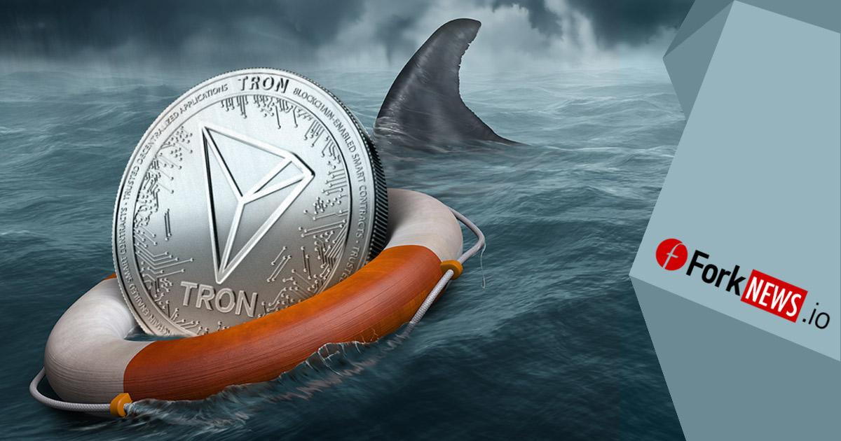 TRON упал на 10%, но все еще держится на плаву