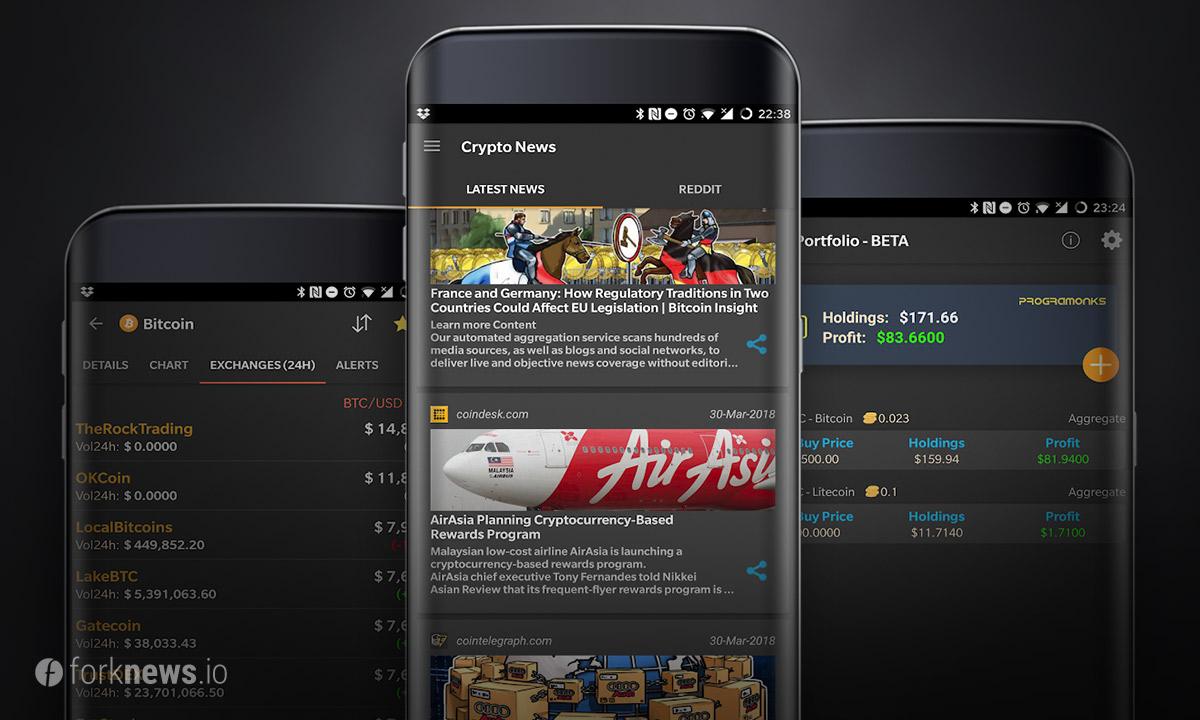 Новое криптовалютное приложение CoinMarketApp для Android и iOS