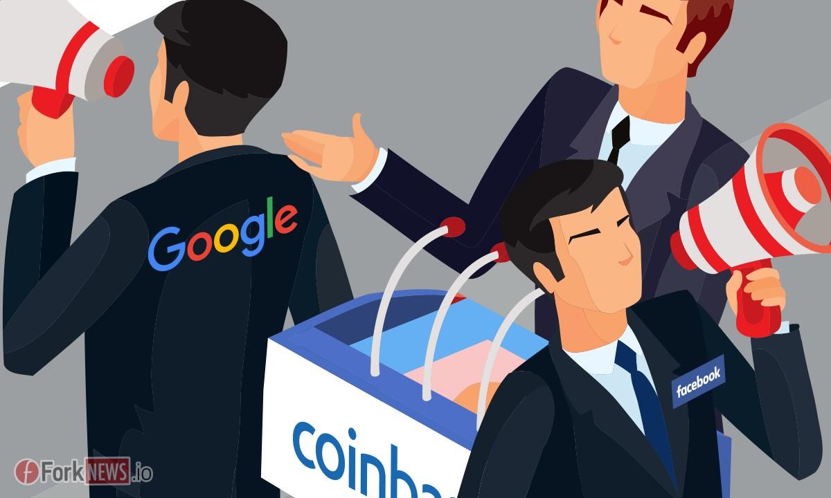 Чтобы не отставать от Facebook, Google снова рекламирует Coinbase